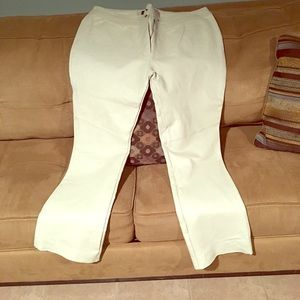 Pants - (SOLD ) Off white Leather full length pants